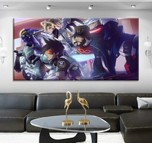 High Quality Canvas Print Game Large Poster 1 Piece Type  Modern Home Decor Wall Artwork Overwatch Hero Comic Style Painting
