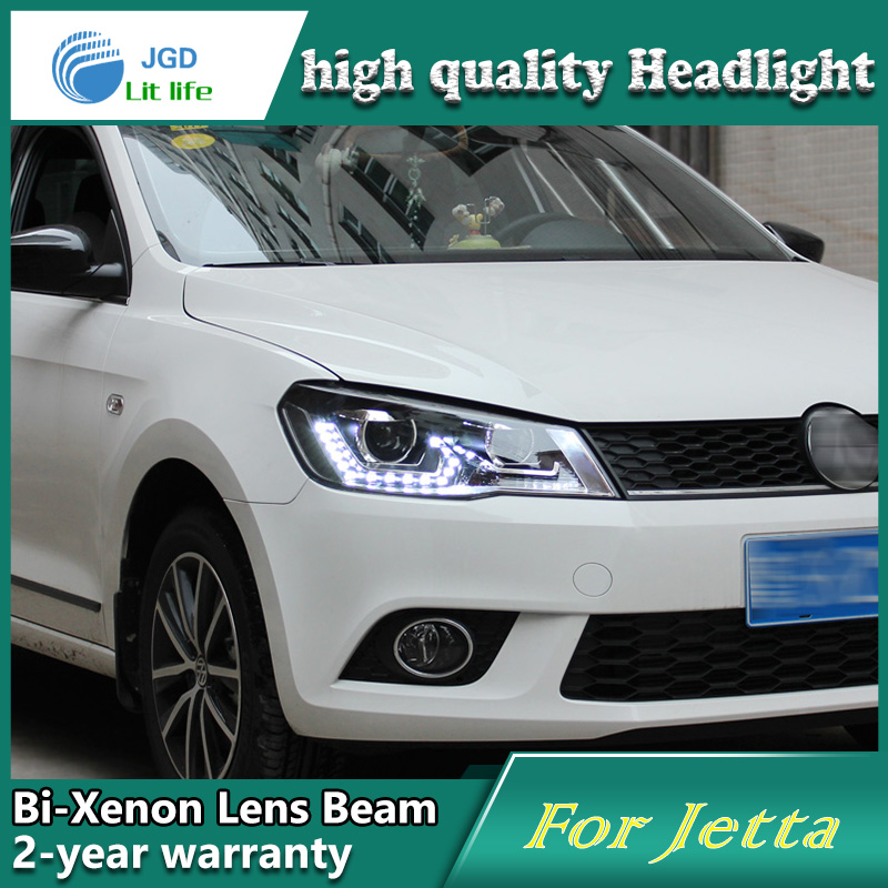 high quality Car Styling Head Lamp case for VW Jetta 2013 LED Headlight DRL Daytime Running Light Bi-Xenon HID Accessories top quality 0258007057 17014 lsu4 2 wide band o2 sensor for 99 05 vw jetta 1 8l l4 021906262b 06b906265d 06b906265m