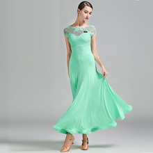 3 Colors Green Ballroom Dress Woman Foxtrot Waltz Dresses Lady Dancing Spanish Flamenco Dance Wear B-6182
