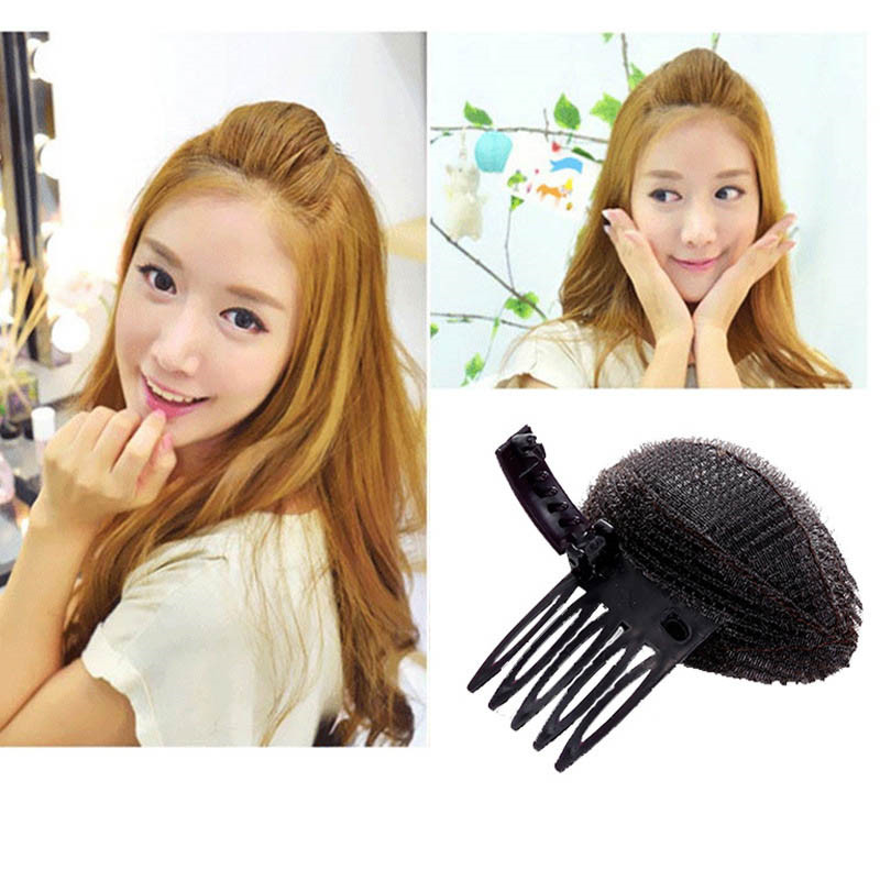 1 Pcs Magic Forehead Hair Volume Fluffy Sponge Clip Professional Women Fashion Makeup Comb Hair Clips Free Shipping