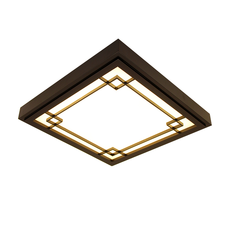 Ceiling Lights & Fans Japanese Style Delicate Crafts Wooden Frame Ceiling Light Led Ceiling Lights Luminarias Para Sala Dimming Led Ceiling Lamp