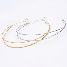 10 шт. модная металлическая Золотая Серебряная родиевая лента для волос модные повязки на голову для волос установка основы для изготовления ювелирных изделий