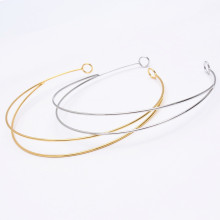 10 PCS Fashion Metal Gold/Rhodium/Silver Color Hair Band Trendy Hairbands Hairwear Base Setting For Jewelry Making