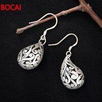 S990 silver deer hollow pattern Korean Folk Style Sterling Silver Vintage earrings earrings personality lady models