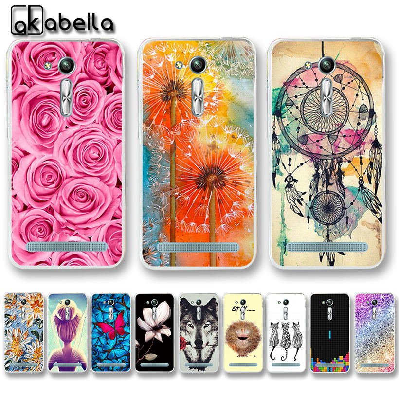 AKABEILA Soft TPU Phone Cases For Asus Zenfone GO 2nd Gen ZB452KG  ASUS_X014D ZB450KL 4 5 inch Cover