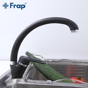 Image 2 - FRAP Küche Wasserhahn moderne 4 farbe top qualität küche waschbecken wasserhahn wasser mixer deck montiert messing wasserhahn saving wasser armaturen