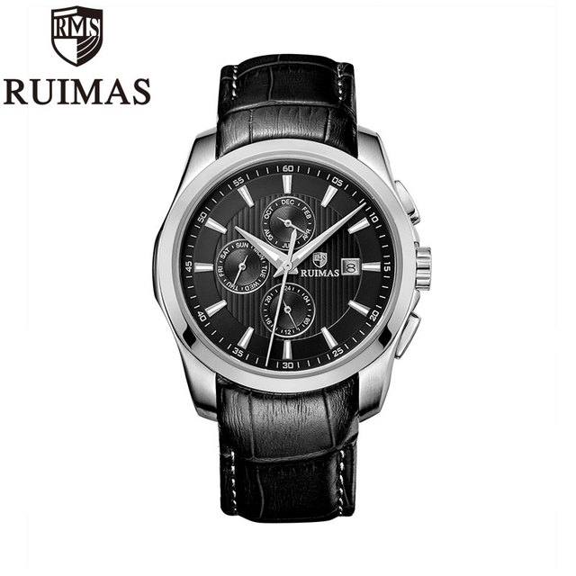 Ruimas Men Watches Automatic Mechanical Retro
