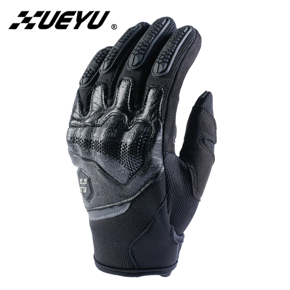 XUEYU Genuine Cowhide Leather Motorcycle Gloves Men Motocross Gloves Motorbike Riding Protective Gear Touchscreen Moto Gloves star brand moto gp pro racing motorcycle durable cycling gloves gp tech leath protective gear genuine leather motocross gloves