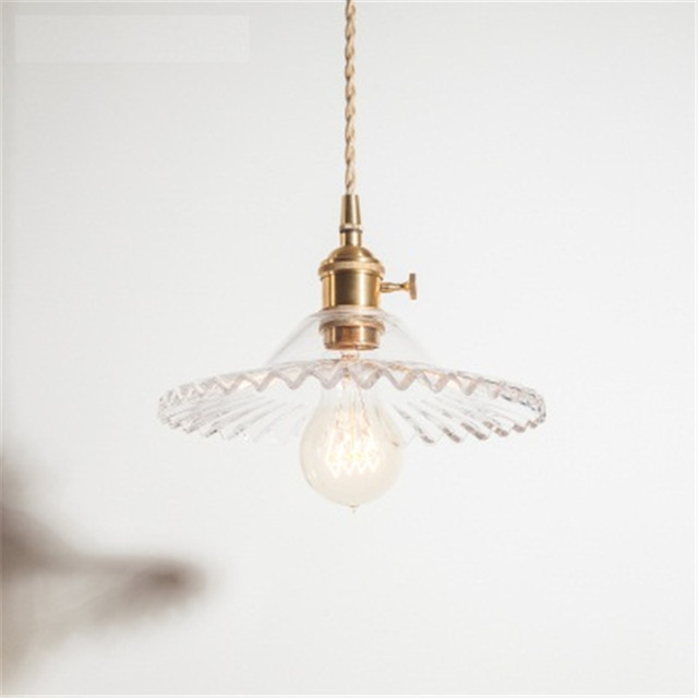 American Loft Style Edison Vintage Led Pendant Light Fixtures Antique Copper Gl Single Hanging Lamp Home Lighting