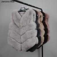 2017new Real Fur Gilet Women Winter Genuine Soft Fox Fur Vest Lady Fashion Coat Wholesale Retail