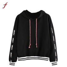 FEITONG Autumn Winter Womens Letters Long Sleeve Hoodie Sweatshirt Top Blusa Casual Tracksuit Jumper Pullover Fashion sweatshirt