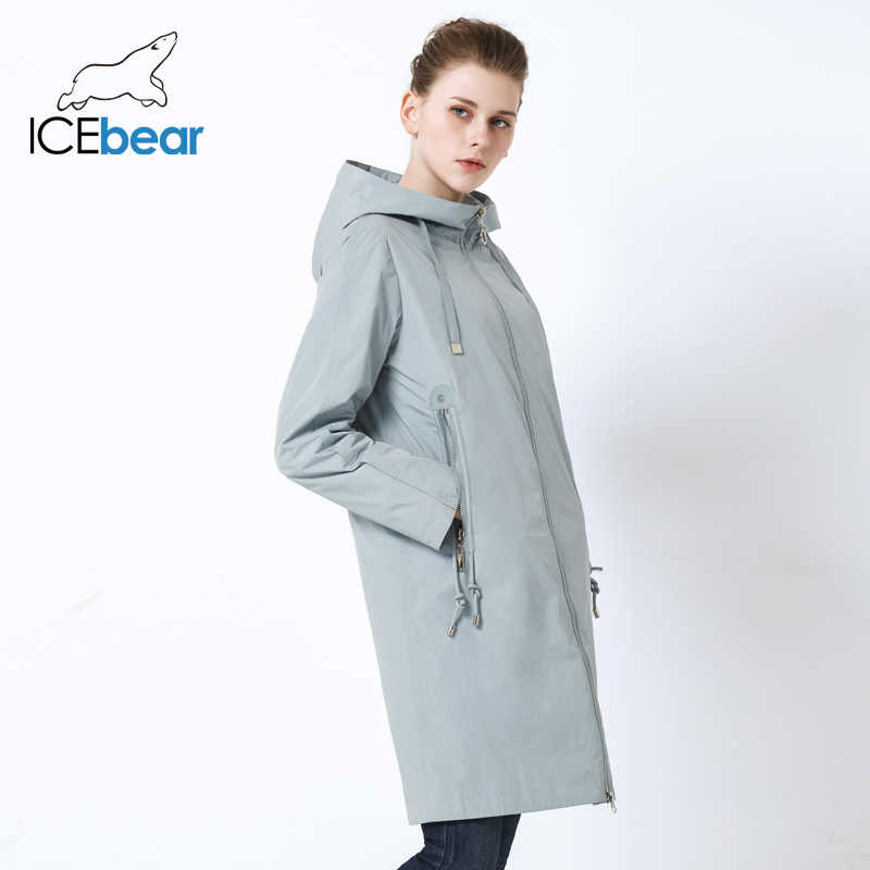 ICEbear 2019 새로운 후드 여성 자 켓 고품질 롱 숙 녀 자 켓 큰 주머니 디자인 숙 녀 자 켓 브랜드 여성 GWC19085I