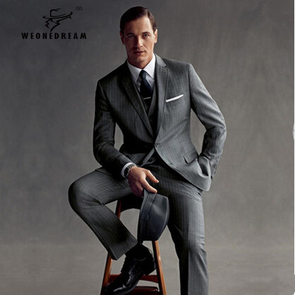 Mens Grey Suit Jacket - Hardon Clothes