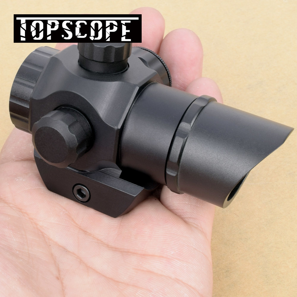 Tactical Harrie 1x22 Mini Red Dot Scope Reflex Pistol Weapong Gun Sight With 21mm Picatinny Mount Base