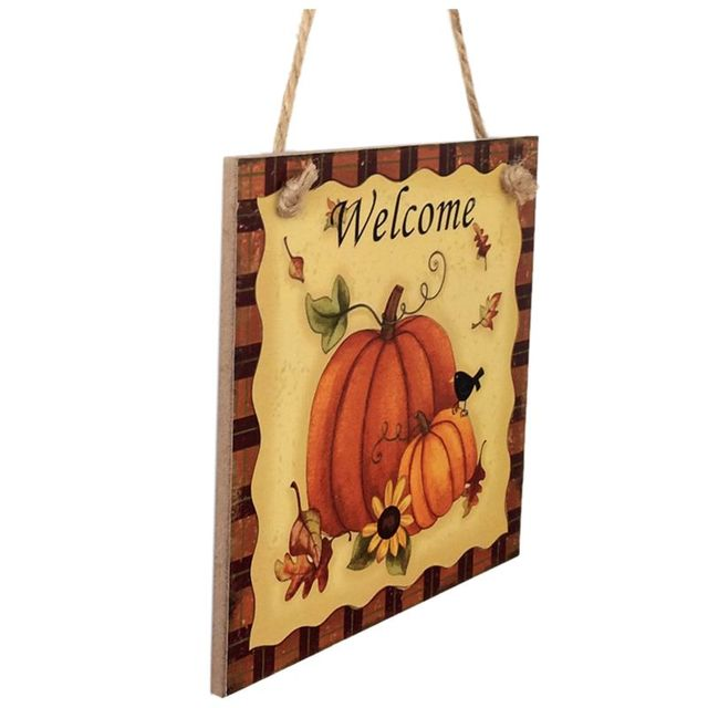NHBR Wooden Hanging Plaque Sign Thanksgiving Door Hanger Wall ...