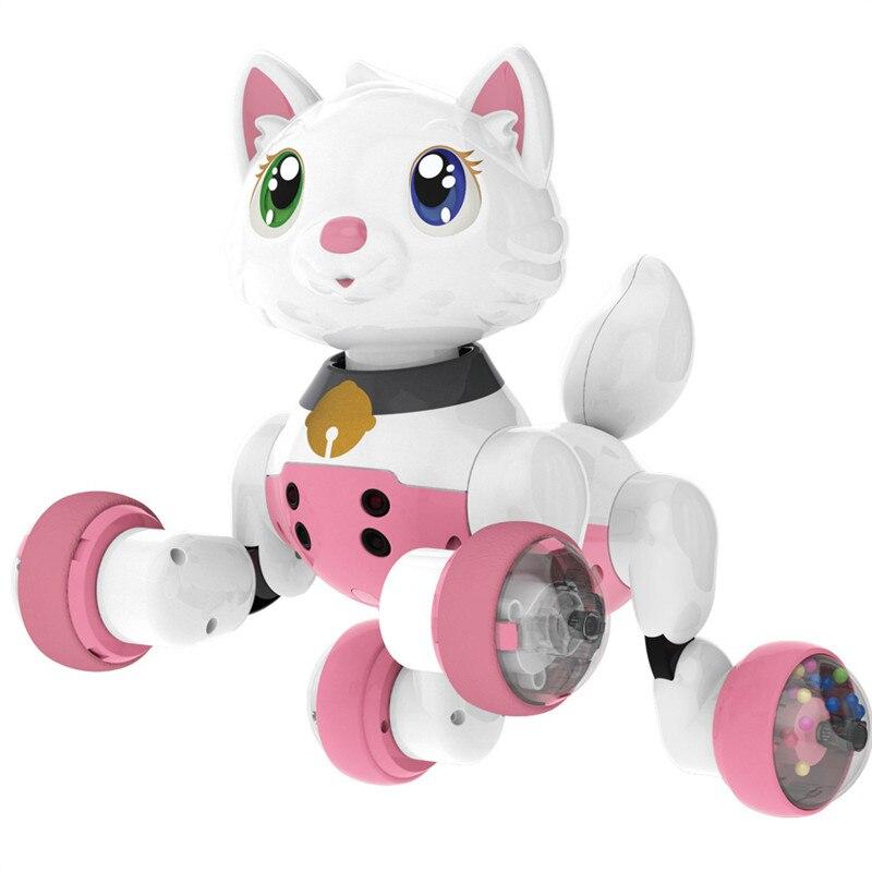 Commande vocale électronique chien chat Robot intelligent sonnant danse Interactive chanter marche chiot Action avec des jouets de détection de geste - 2
