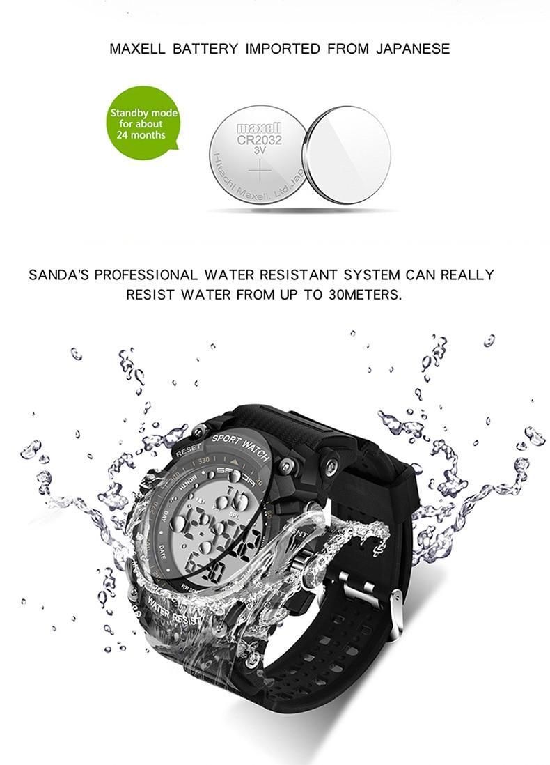 água relógio masculino contagem regressiva relógio duplo