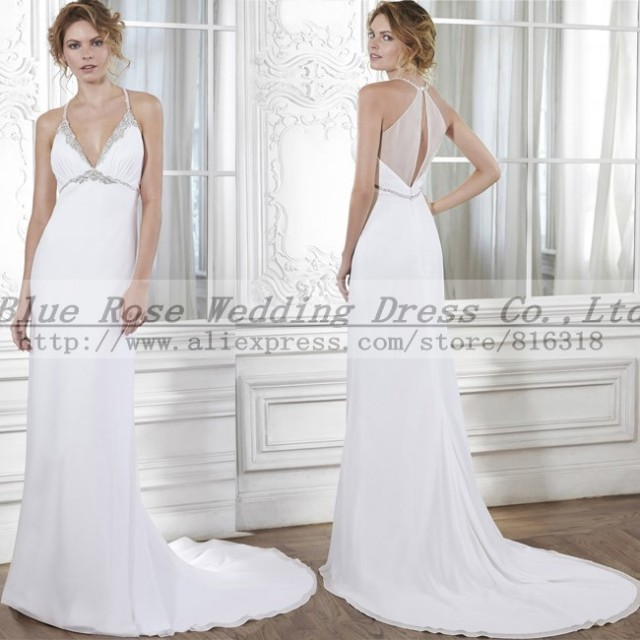 Aliexpress.com : Buy Vestidos de Noivas Sexy Halter Wedding Dress ...