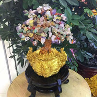 natural mixed color quartz crystal lucky tree bring in wealth and treasure fortune tree free shipping