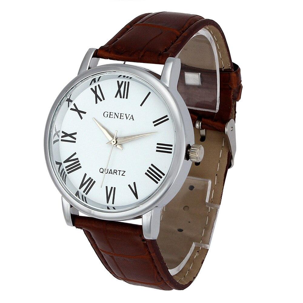 Woman Watch Geneva Faux Leather Analog Quartz Wrist Watch Reloj Pulsera Mujer Orologi Donna Relogios Femininos Montres Femme