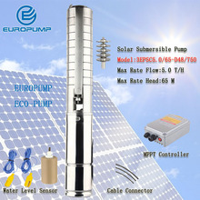 цена на EUROPUMP MODEL(3EPSC5.0/65-D48/750) 1HP Solar submersible water pump/solar powered water pump/solar water pump system