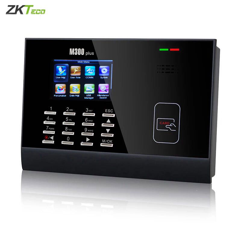 Image 2 - M300Plus ZK Time Attendance  Proximity RFID Time Attendance System Punch Card Linux System Biometric Time clock 30,000 Users-in Electric Attendance from Security & Protection