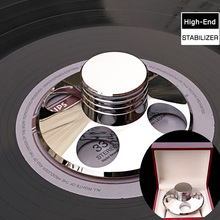 Deluxe High quality Silver LP Vinyl Turntables Metal Disc Stabilizer Record Weight/Clamp With High Quality Package Box