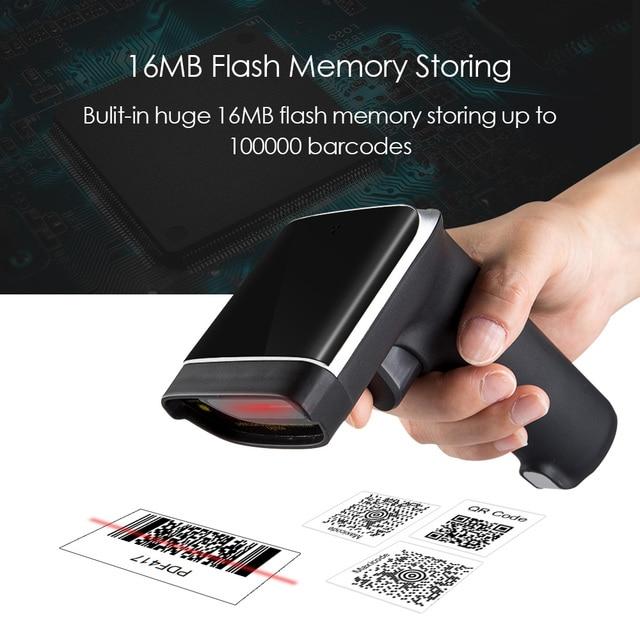 EYOYO EY-007 2.4G Wireless 2D Scanner Read QR Code PDF417 DataMatrix Hand-Held Wireless Barcode Scanner Screen Barcode Reader 2D 2