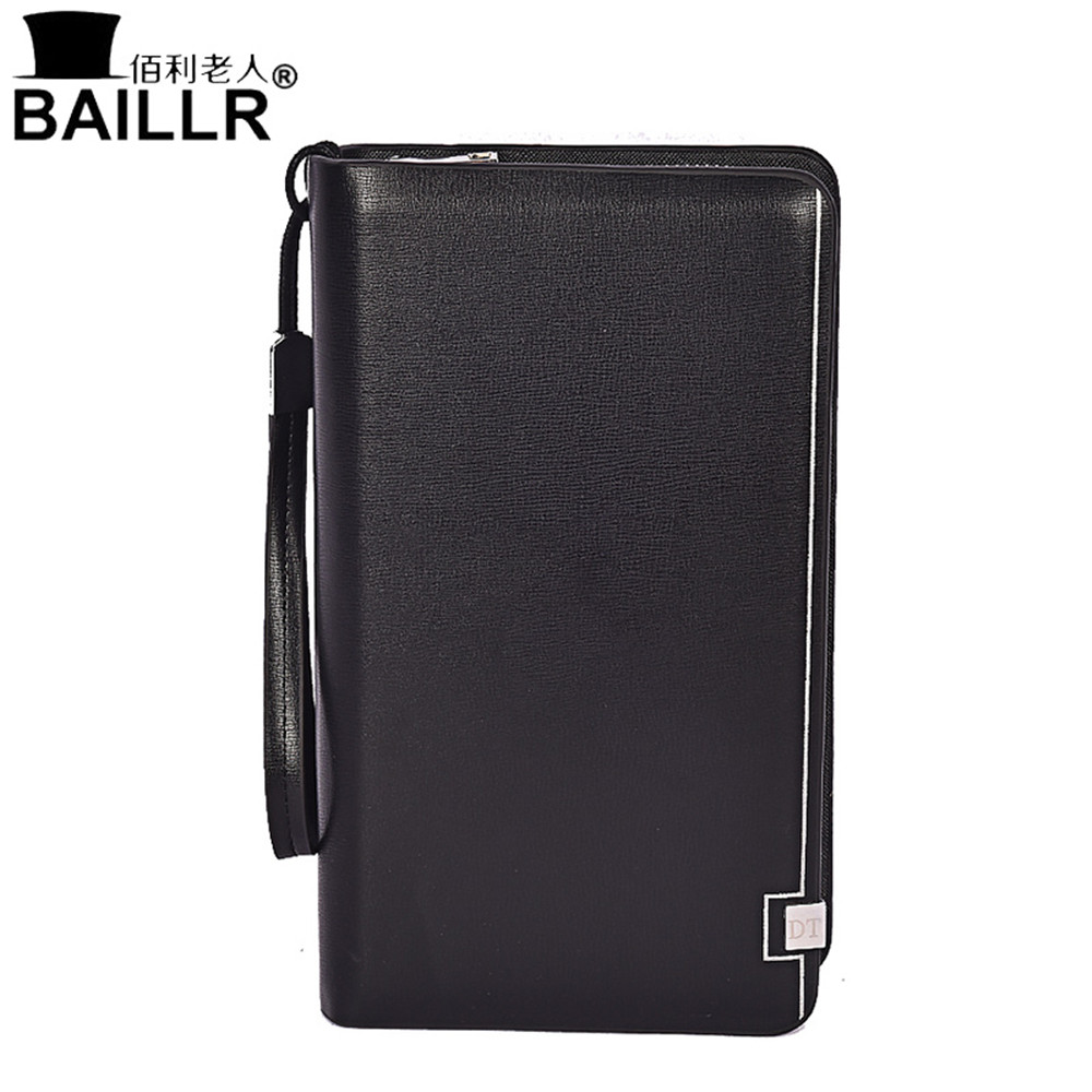 Top Quality Business Wallet Mens Pocket Coin Men Purse Large Capacity Multi-card Bit Casual Clutch Double Zipper Fashion Wallet