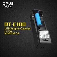 Оригинальный Opus BT-C100 Intelligent батарея зарядное устройство с ЖК дисплей для литий-ионный NiMh AA AAA C D 26650 18650 14500 10440 26650