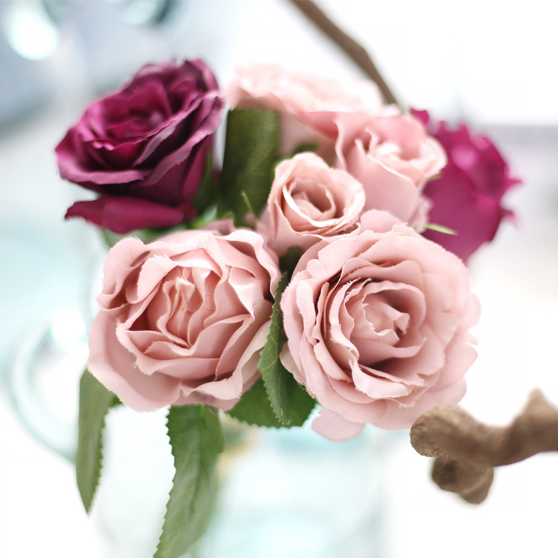 1 a bunch of silk hand holding flowers small rose flowers a bunch of silk hand holding flowers small rose flowers artificial flower crafts home decoration in artificial dried flowers from home garden on mightylinksfo