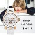 ЭНДЖИ Женская Мода Новые Спортивные Часы Водонепроницаемые Дамы Силиконовые 3 Глаза Кварцевые Часы Открытый Часы Montre Femme