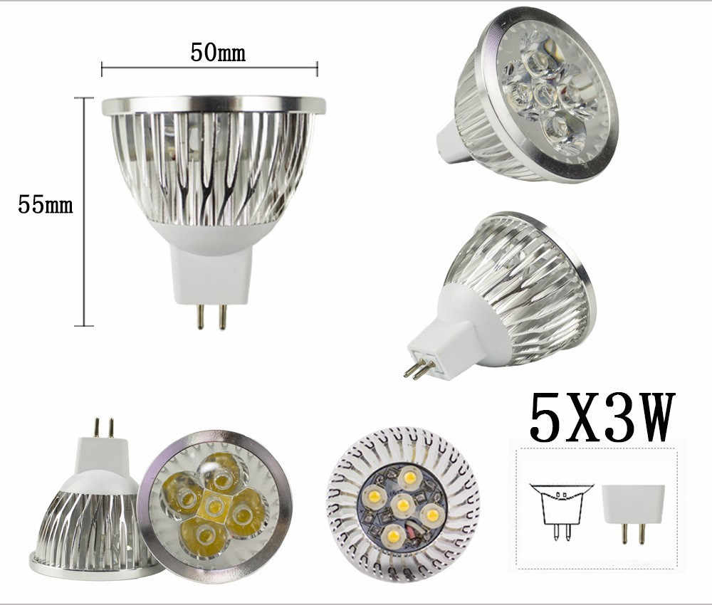 COB led الأضواء 3 واط 9 واط 12 واط 15 واط led أضواء E27 E14 GU10 GU5.3 220 فولت MR16 12 فولت Cob مصباح led أبيض هادئ الباردة الأبيض lampada led مصباح