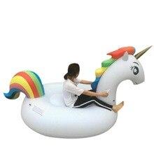 Giant 200CM Inflatable Unicorn Pool Float Swim Ring Pegasus Floating Swim Float Gonflable Piscina Boias Child&Adult Water Toys