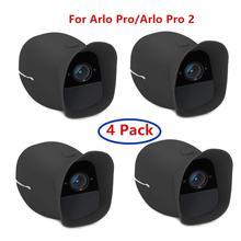Lot de 4 peaux de couverture pour caméra de sécurité intelligente sans fil, pour Arlo Pro et Arlo Pro 2, résistante à leau et aux UV, raccord parfait (noir