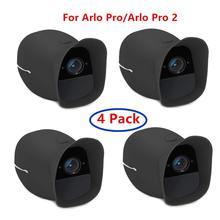 Paquete de 4 fundas de cubierta para cámara de seguridad inteligente inalámbrica Arlo Pro y Arlo Pro 2, resistente al agua y a los rayos UV, ajuste perfecto (negro _
