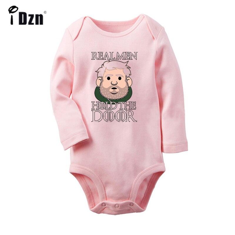 Hodor real men Hold the door дизайнерский боди для новорожденных малышей комбинезон с длинными рукавами для малышей хлопковая одежда