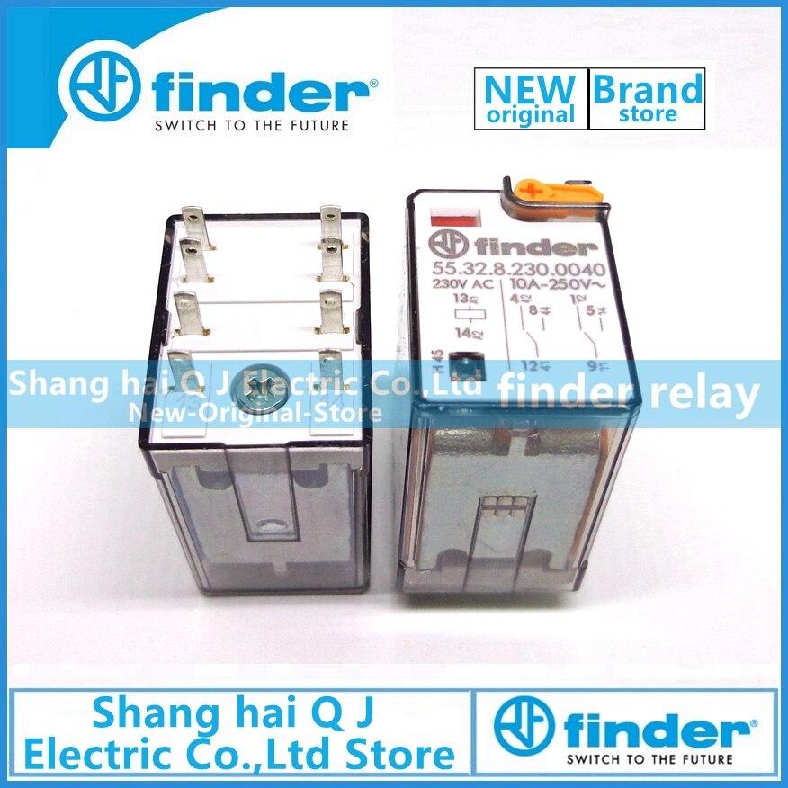 Новый и оригинальный видоискатель 55.32.8.230.0040 55,32 230VAC 10A 2co finder реле