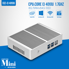 The Cheapest Core I3 4010U 8G RAM 64G SSD WIFI Fanless Office Computer Mini PC Tablet Support Linux OS Ubuntu