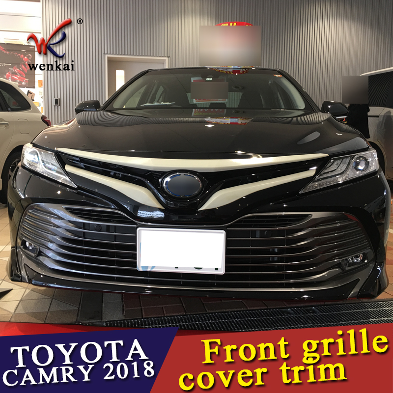 WENKAI ABS chrome Auto Front grille cover trim for Toyota CAMRY 2017 ...