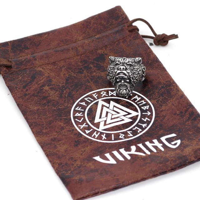 STAINLESS STEEL NORDIC VIKING BEAR RING (3 VARIAN)