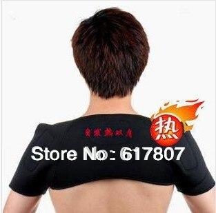 Hot Free Shipping 1Piece Far infrared spontaneous heat shoulder belt Tourmaline self heating shoulder pad support