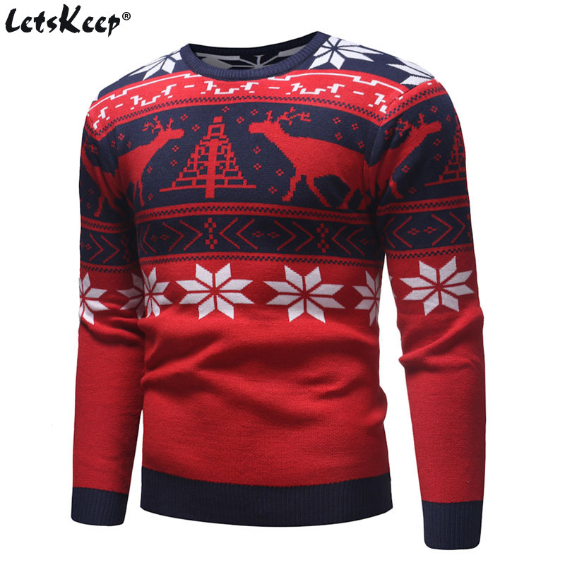 Ugly Christmas Sweaters.Us 18 99 50 Off Letskeep New Ugly Christmas Sweater Men Deer Printed Mens Pullover Sweaters Winter O Neck Christmas Clothes Men Eu Size Ma551 In