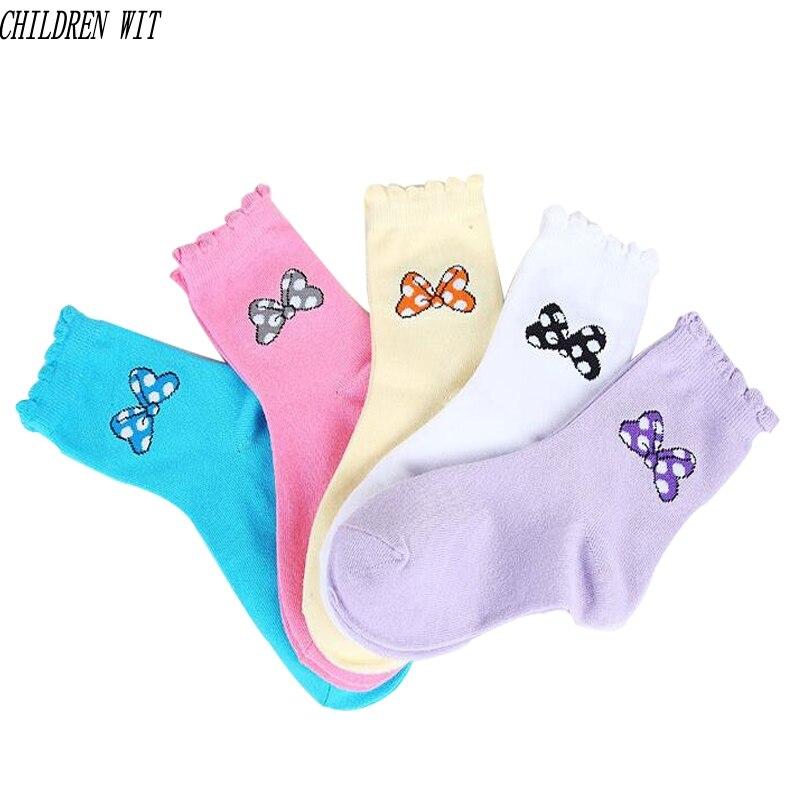 Socken, Strumpfhosen & Leggings 5 Paare/paket 2017 Frühling Und Herbst Neue Mode Spitze Niedlichen Fliege Baumwolle Mädchen Socken 1-15 Jahr Kinder Socken Für Mädchen Socken