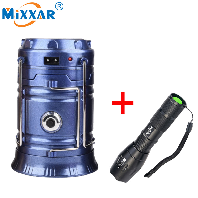 LED Solar Powerful Flashlights Portable Lamp Torch Rechargeable Hand Lamp Hiking Camping Lanterns Tent Emergency Light