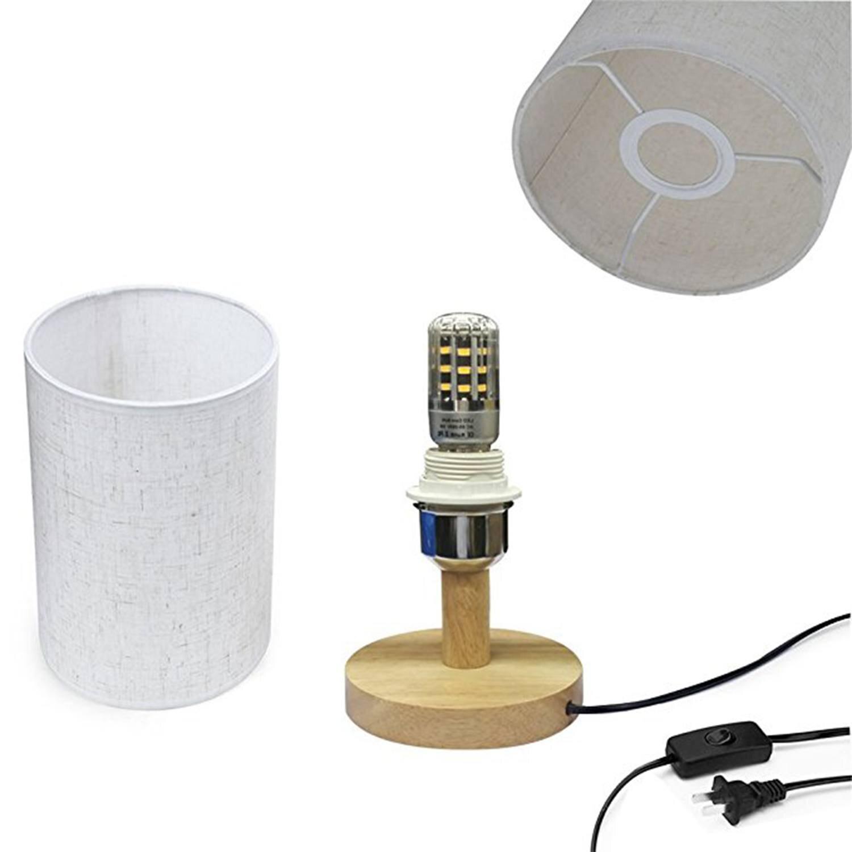 Schreibtischlampen Europäischen Stil Moderne Minimalistischen Holz Tisch Lampe Usb Stecker Schlafzimmer/nacht/wohnzimmer Nacht Licht Kleine Tisch Lampen Licht & Beleuchtung