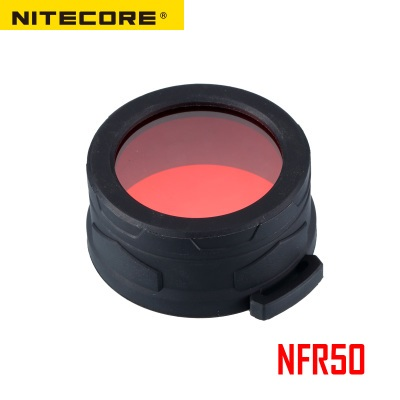 Nitecore NFR50 NFG50 Multicolour Flashlight Filter 50mm Suitable for Torch with Head of 50MM 50mm