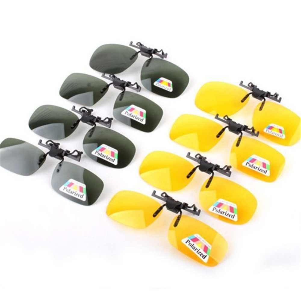 578d75cbae Driving Day Night Vision Polarized Clip-on Flip up Resin Sunglasses Lens  for Myopia Glasses
