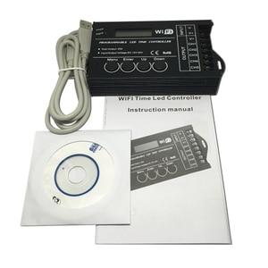 Image 5 - DC12 DC24V TC420/TC421 WiFi tiempo programable controlador regulador led RGB acuario iluminación temporizador Entrada 5 canales para tira de led