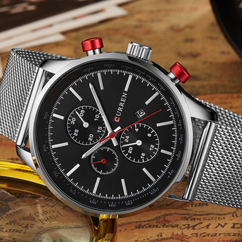 Top Brand Luxury Gold Watch Clock Mens Watches Sports Quartz Watch Men Military Wristwatches Relogio Clock CURREN 8227 дамски часовници розово злато